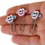Sock Monkey Face PaperClip Bookmark..